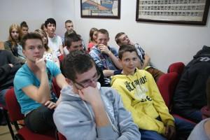 Młodzież z LO w Tuchowie na spotkaniu ze Zdzisławem Dąbczyńskim