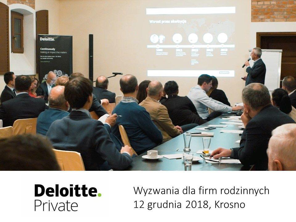 Zdzisław Dąbczyński. Konferencja firm rodzinnych pod patronatem Deloitte.